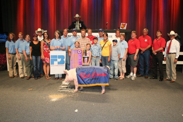 Troy Elwer, VanWert County, had the 2011 Reserve Grand Champion Barrow that was purchased by Bob Evans Farms and the Ohio Farm Bureau Federation for $20,000.