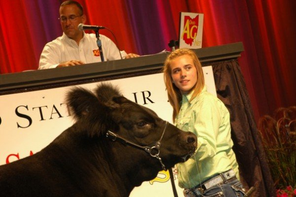 Danielle Heintz, Auglaize County, had the 2011 Grand Champion Market Beef purchased by JD Equipment and S&S Volvo for $85,000.  Megan Miller, Holmes County, had the Reserve Grand Champion Market Beef purchased by Steve Rauch Excavation/Demolition for $40,000.