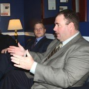 Ohio's Anthony Bush talks about the farm bill in the office of U.S. Representative Bob Gibbs.