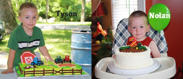 I Was Lucky Enough To Attend Not One But Two Tractor Themed Birthday Parties This Summer It Just So Happens That My Nephews Three Year Old Tyson And