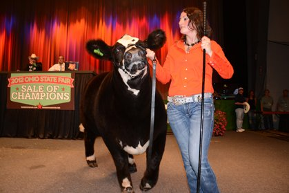 Mackenzie Fruchey of Fulton County had the 2012 Reserve Champion Market Beef, which sold for $38,000.