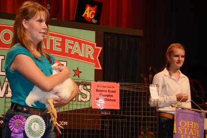 Chrysta Beck's 2012 Reserve Grand Champion Meat Chickens commanded a record-setting bid of $18,000.
