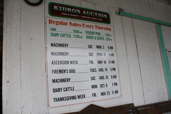 kidron-auction-times