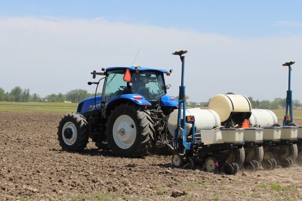 Beck's Hybrids starts planting at first Practical Farm Research in London, Ohio.