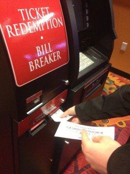 Most of the redemption and bill breaker machines were busy so some folks must have been winning big.
