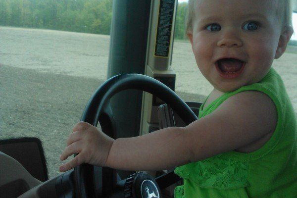 She is 13 months old and trying to take dads job at Derck Farms in Antwerp.