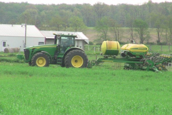 JB Levering nearly finishes his corn planting on May 7th near the Knox/Morrow County line.