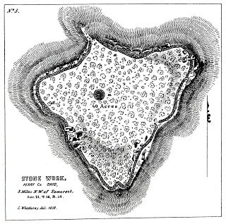 This is one of the earliest maps of the Glenford Fort.