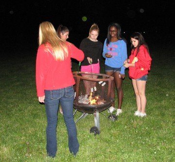S'mores and hot dogs were one of the highlights of the evening.