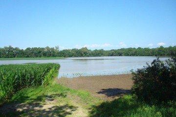 90 acres under water