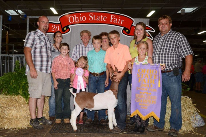 Ashton Frey from Wyandot County had the Reserve Grand Champion.