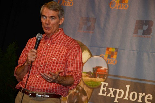 Senator Rob Portman stopped by for a few comments on the Country Connections stage in the Ag and Hort Building.
