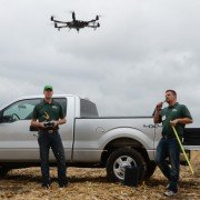 The UAV demonstrations were popular at the FSR, which was the first ever farm show UAV demonstration.