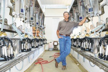 The recent addition of the Double 7 Herringbone milking parlor have helped Kyle with milking on the farm.