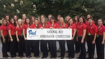 Jepsen, fourth from the left in the back row, will serve as a National Beef Ambassador.