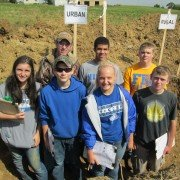 Urban Soils Team - L to R front row: Kayla Zirkle, Arron Adams, Katie Bodenmiller, Austin Niswonger, L to R back row: Cody McConnaughey, Micah Gaines, and Trent Church