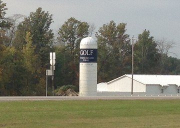 A silo in New Albany, Ohio at Winding Hollow Golf Club
