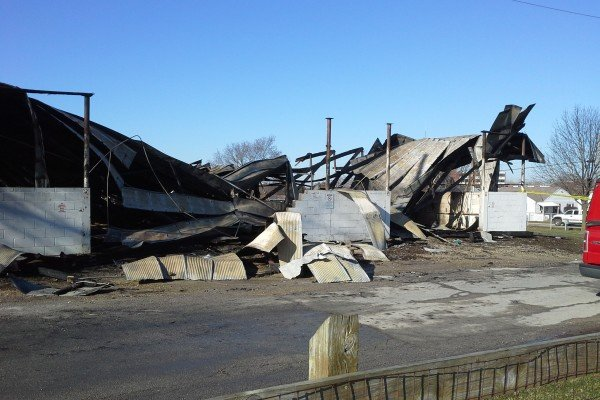 The beef barn on the Darke County Fairgrounds took the biggest hit after a fire broke out on the north side of the grounds Friday night.