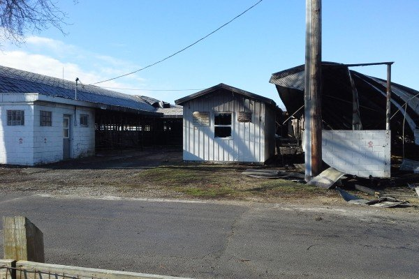 The Darke County Fair milking parlor and dairy barn suffered damage after a fire on Friday night.