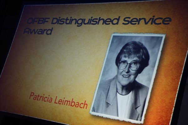 Pat Leimbach was recognized for her service to agriculture through her career of writing.