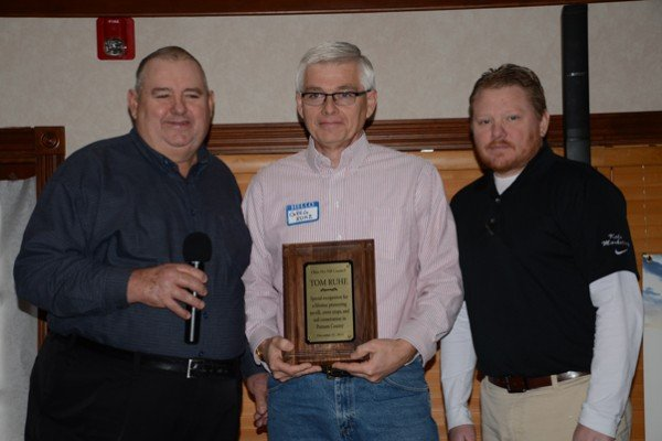 Greg Ruhe accepted the posthumous recognition for the conservation efforts of Tom Ruhe in Putnam County.
