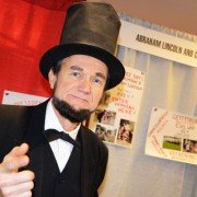 You never know who you will run into at the OFMA Convention. John Cooper from Fairfield County impersonates Abe Lincoln at events.