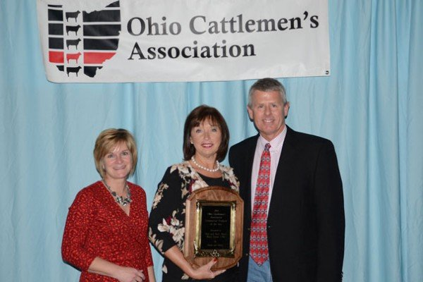 "Phil and Barb Watts were recognized as the Commercial Producer of the Year, sponsored by ""Farm and Dairy."""