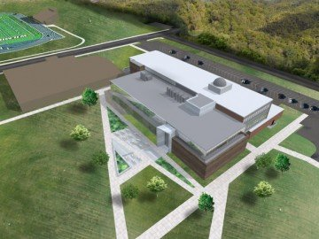 Rendering of the new Wilmington College facility.