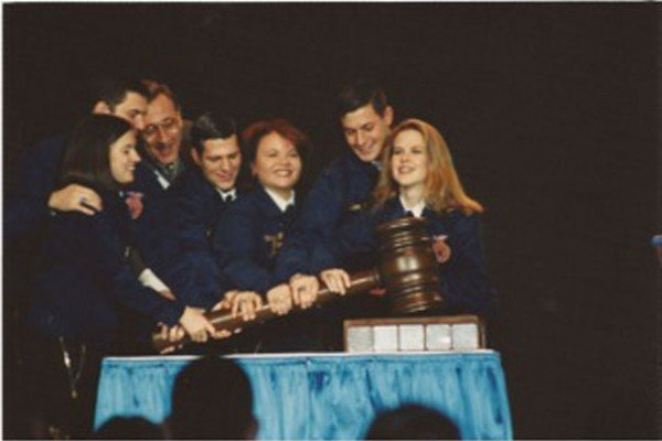 Shannon (Wilcox) Donnelly (center), from the Upper Scioto Valley Chapter, served as the National FFA Secretary in 1997-1998.