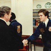 Bruce Kettler of the Anna Chapter got to meet President Reagan during his time as a National Officer.