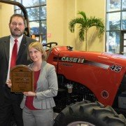 Dr. Emily Buck was one of this year's runners-up for the 2014 American Farm Bureau Federation Young Farmers & Ranchers Excellence in Agriculture award and received a Case IH Farmall 45A tractor.