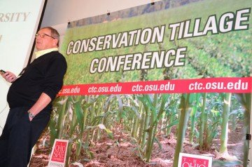 Dwayne Beck, manager of Dakota Lakes Research Farm, was a speaker at the Conservation Tillage Conference in Ada.