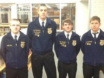 Left to right: Alex Fike, Sam Robertson, Paul Heydinger, Aaron Niedermier