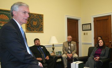 Congressman Bob Latta (OH-5) visits with county presidents of The Ohio Farm Bureau Federation