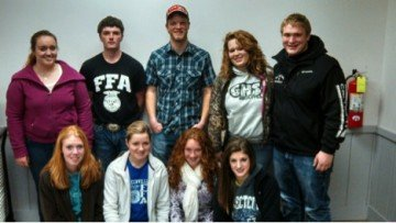 Greenville FFA senior class members are pictured above with YouTube star and agriculture advocate, Greg Peterson. (Top row, Middle)