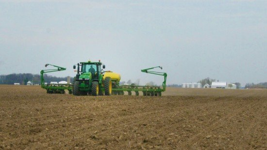 Corn was also being planted in Shelby County. This is Tim Everett running on April 21st, 2014