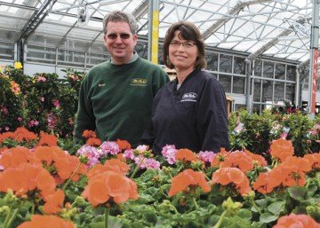 Brent and Nancy McClish have worked for nearly 30 years at McClish's Plants Plus Greenhouses.
