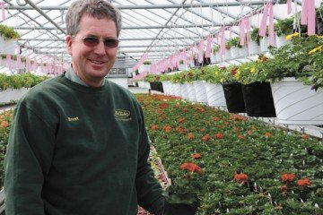 The greenhouse retail season is from the first day of spring in late March through mid-July before the hottest days of the summer and the county fair.