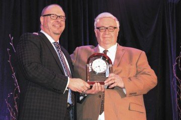 Jim Chakeres presented the Meritorious Service Award to Jim Kinder.