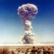 The current cattle battle has produced similar shockwaves as this 1961 nuclear test in the Nevada desert.