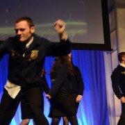 Volunteers danced onstage