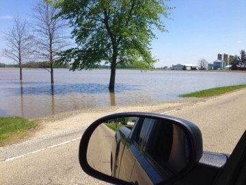 This flooded field is just east of Covington. Photo by Doug Longfellow.