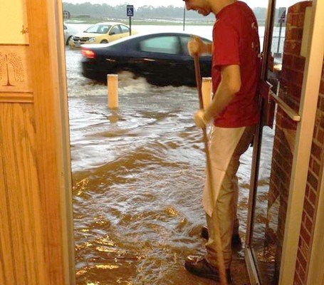 Visitors to Young's Jersey Dairy near Yellow Springs got a soggy reception.
