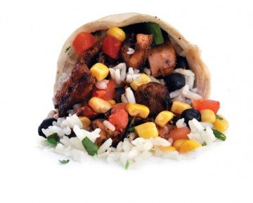 A delicious Hot Heads chicken burrito