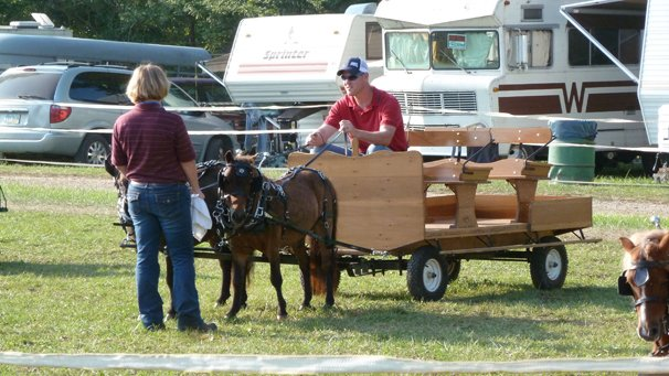 Kim and her husband, Mark, enjoyed showing their miniature horses at the 2013 Morrow County Fair.