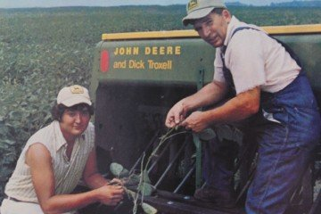 Tom and Richard Troxell were featured in a John Deere advertisement in the 70s.
