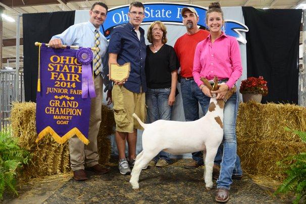 Cami Reveal, Clinton Co. had the Grand Champion Junior Market Goat.