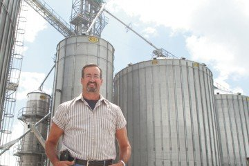 Mitch Finney now has seven dry storage bins, totaling 835,000 bushels of capacity, a 21,000-bushel wet holding bin, a tower dryer capable of drying 1,400 bushels per hour, a grain hopper tank, three bucket legs and three conveyors on the farm.