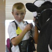 Hayden King from West Liberty with his Holstein. Photo by Megan Hunker.