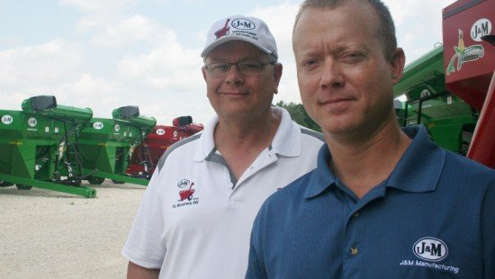 From left to right, Jeffrey and Shannon Grieshop of J & M Manufacturing.